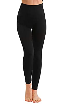 Fleece Lined Leggings Women-Non See Through Thick Thermal High Waisted Leggings Winter Warm Hiking Pants-Compression&Plus Size (Black, Small/Medium (0-10))