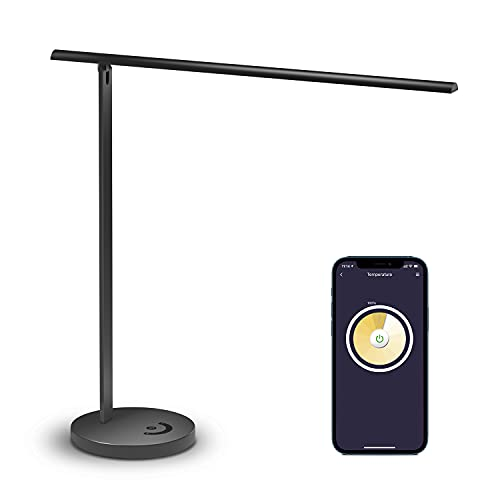 Smart LED Desk Lamp, Meross Dimmable Desk Lamp Works with HomeKit, Alexa, Google Assistant and...