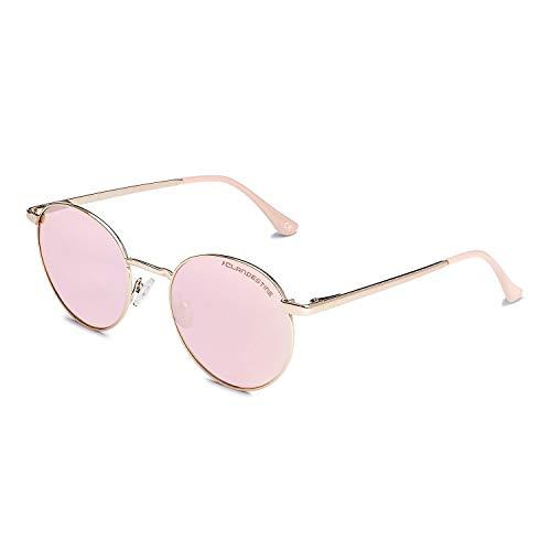 CLANDESTINE Orbita Gold Rose - Gafas de Sol de Nylon HD para Hombre & Mujer