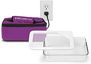 Hot logic Mini with 6 Cup Premium Glass Dish with Glass Lid and Silicon Seal - Purple