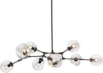 Mid Century Globes with Multi Directional Branches Chandelier