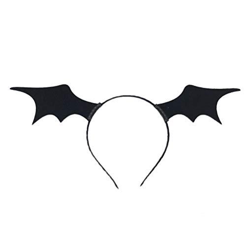 YeahiBaby Diadema de Halloween Alas de murciélago para Mujeres Chicas - Disfraces de Fiesta, Accesorios de Fotos