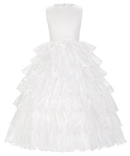 GRACE KARIN Elegant Blumenmaedchenkleid Fuer Hochzeit Lang Festlich Party Kommunion Kleid 11-12 Jahre