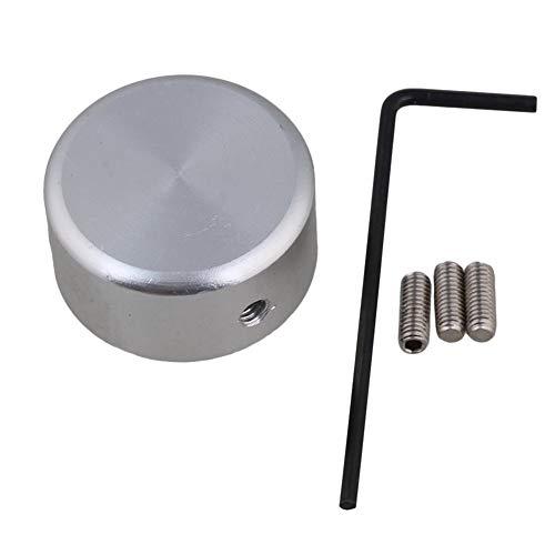 Fußschalter Topper Metall Gitarren-Effekt-Pedal Schutzkappe Fußschalter Topper Fussnagel Cap mit Wrench Musikinstrumententeile (Color : Silver)