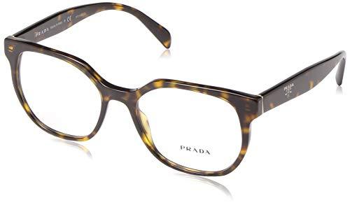 Prada Damen 0PR 02UV Brillengestell, Braun (Havana), 52 EU