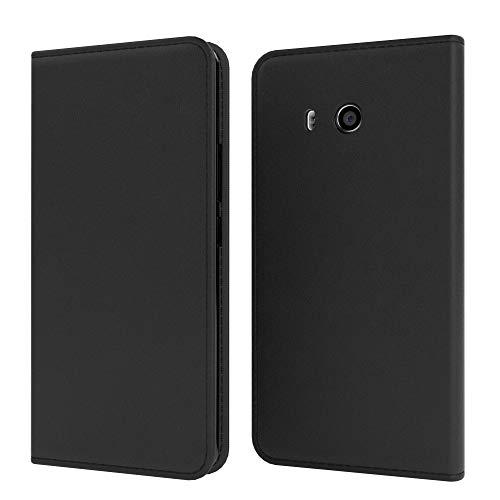 EAZY CASE Tasche kompatibel mit Xiaomi Mi 8 Pro Vintage Schutzhülle mit Standfunktion Klapphülle im Bookstyle, Handytasche Handyhülle mit Magnetverschluss & Kartenfach, Kunstleder, Schwarz