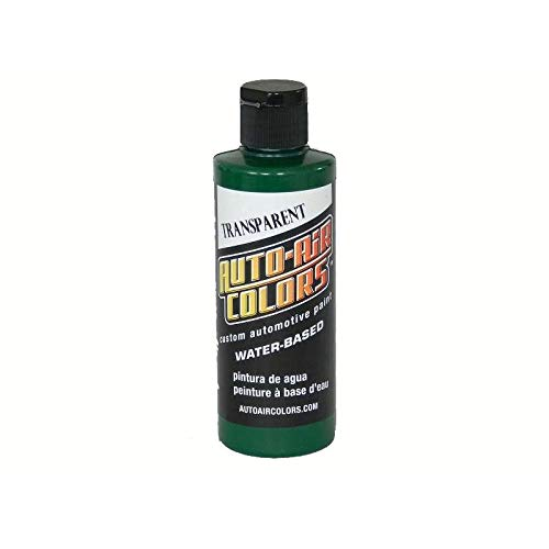 4 oz. Airbrush Transparent Paint Color: Brite Green by Auto Air Colors