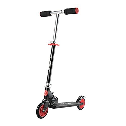 HTRTH Scooter de Aluminio, Scooter de Pedales para niños Ajustable, Scooter Plegable para niños para niños y niñas, Mejores Regalos 812 ( Color : Black )