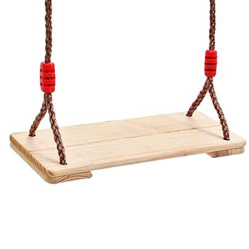 YYDMBH Columpios Suelos Colgantes de Madera Asiento de Swing Asiento de Madera Asiento de Swing de árbol for Interior al Aire Libre (Color : White)