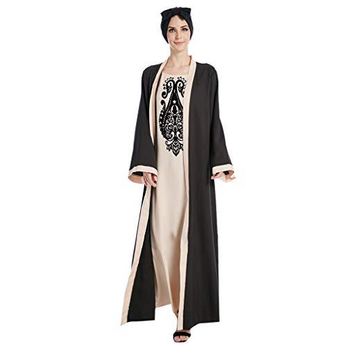 2 Cousus 1 Abaya Chic POPLY Robe Longue Femme Ete Robe Muslim Abaya Femme Musulmane 2019 Abaya Dubai Moderne Mode Robe Islamique Femme Cool Kaftan Femme Marocain Takchita Caftan Femme Oriental