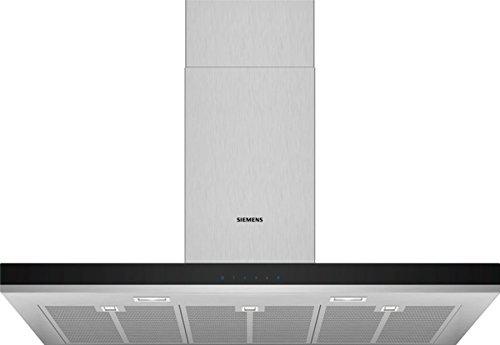 Siemens LC97BHM50 iQ300 Dunstabzugshaube / Wandhaube / 90 cm / Metall-Fettfilter / Doppelflutiges Hochleistungsgebläse / Edelstahl