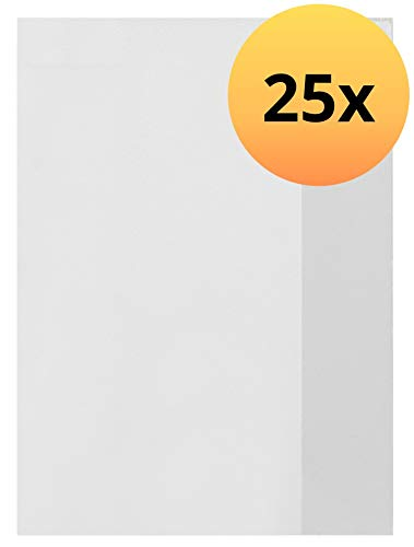 ELBA 100420091 Heft-Hüllen 25 Stück DIN A5 transparent, Heft-Umschlag flexibel & abwischbar, Buch-Schoner mit Einband, Schutz-Hülle für Arbeits- & Schulhefte