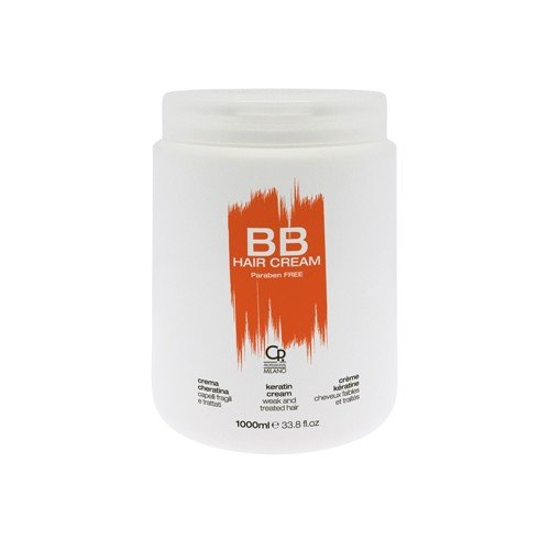 BB Hair Care - Cream Cheratina - Maschera Professionale Ideale per Capelli Trattati e Indeboliti - Trattamento Balsamo Riparatore e Revitalizzante - 1 L