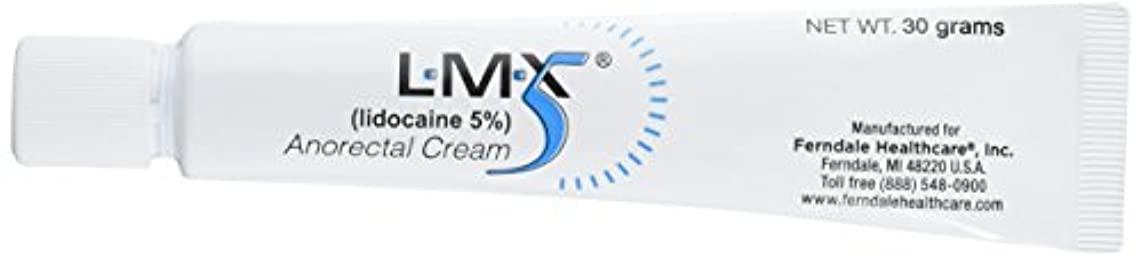 LMX5 Lidocaine Pain Relief Cream, 30g Tube – Topical, Fast Acting, Long Lasting use for Cuts, Scraps, Sunburn, & Bites