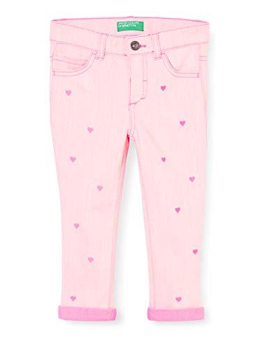 United Colors of Benetton Mädchen Jeans Hose, Pink (Sugar Plum 40j), 104 (Herstellergröße: XX)