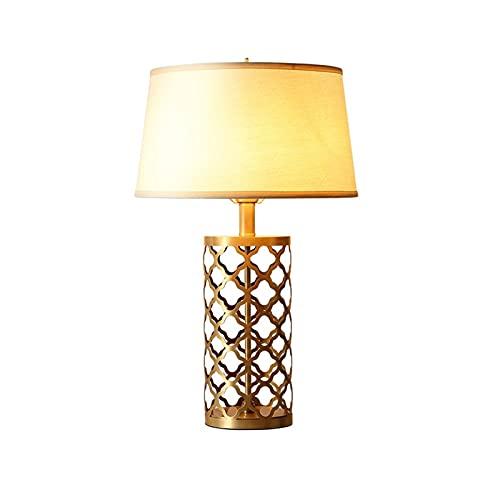 Salón dormitorio lámpara Personalidad creativa cobre e27 lámpara de noche elegante casa mesa lámpara botón simple pulsador luz de noche para sala de estar dormitorio dormitorio oficina oficina comedor