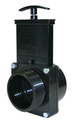 """Valterra 7305 ABS Gate Valve, Black, 3"""" MPT x Slip from Valterra Products"""