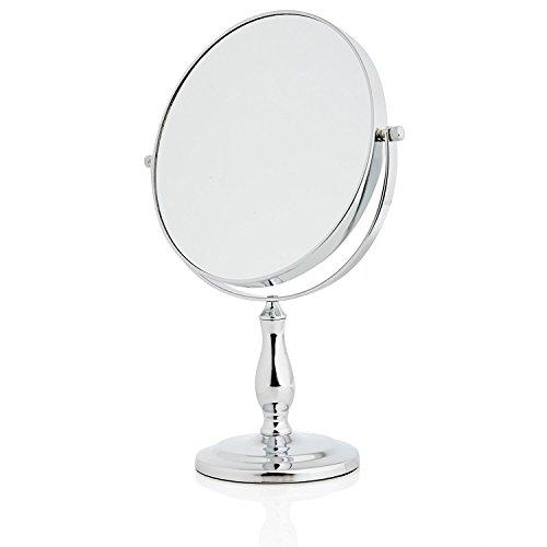 Lumaland formschöner Standspiegel Make Up Kosmetikspiegel Schminkspiegel 10fach Vergrößerung
