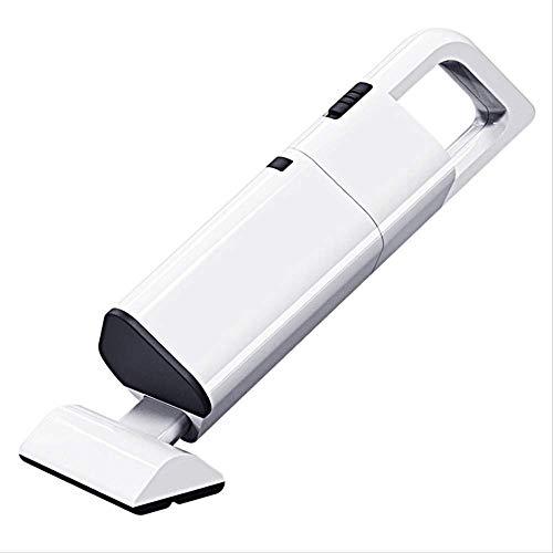 Aspiradora de Mano Aspirador de Mano aspiradora inalámbrica Car Cleaner Portable pequeño y Ligero Aspirador Manual, de Carga USB Tecnología (Color : White)