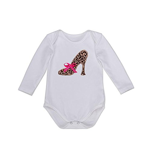 Mornyray bébé fille Graphic Blanc Body manches longues Funny Outfit