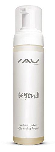 RAU beyond Active Herbal Cleansing Foam 200 ml - Mousse nettoyante douce pour le visage - avec figue, grenade, camomille et hamamélis - Pour les peaux normales, mixtes, impures, sèches et matures