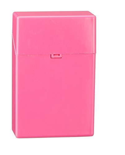 Cepewa GmbH Zigarettenbox Kunststoff 5 Farben ca. 20 Zigaretten Zigarettenetui push-open Etui pink
