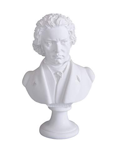 Historische Komponisten Figur Beethoven Klavier Musiker Büste Skulptur Dekofigur IS250 Palazzo Exklusiv