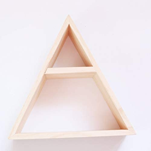 WHZ Wooden Simple Wood Triangle Save money Frame Wall safety Decoration Rack