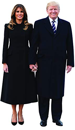 Aahs!! Engraving Donald Trump Stand Up | Cardboard Cutout | 6 Feet Life Size Standee Picture Poster Photo Print Of President (Donald Trump And Melania Smling)