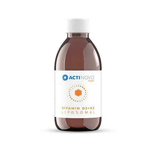 Liposomales Vitamin D3 + K2 | Sanddorn PURE 250 ml | hochdosiert | für dein Immunsystem | Aktive Tagesdosis 1000 IU Vitamin D & 200 µg Vitamin K | hohe Bioverfügbarkeit | flüssig | ohne Zusätze