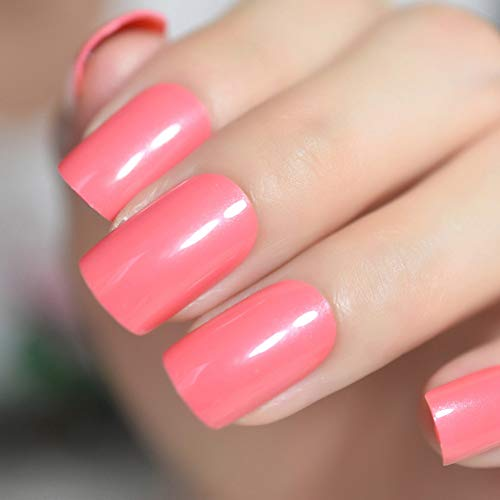 Faux Ongles Rouge Faux Ongles Orange Carré Rouge Faux Ongles Conseils Pré Conception Full Wrap Party Quotidien Porter Ongles Art Outil