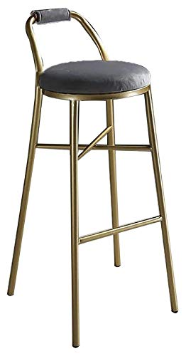 GIAOYAO Taburetes de Barras, heces Altas, sillas de Bar Modernas, con Soporte de Respaldo de Silla de Hierro Simple, Tablas de Vestir tapizadas Altas para el mostrador de Cocina (Color: blanco2)