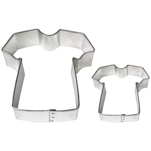 PME Cortadores para Pasteles y Galletas en Forma de Camiseta, Tamaños Grande y Pequeño, Juego de 2