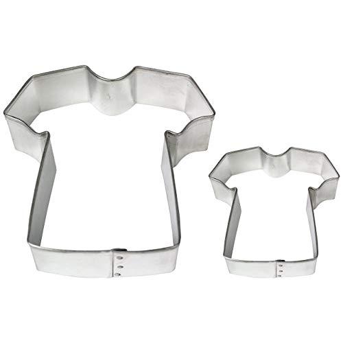 PME SC616 Formine per Biscotti Maglietta, Acciaio Inossidabile, Argento, 9x2x9 cm, 2 unità