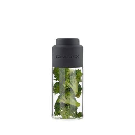 Canlock Stash (75ml) Glass Stash Jar with Portable Vacuum Pump Lid for Airtight Smell Proof Seal - Stay Fresh Storage for 1/8 Ounce or More of Herbs, Dried Goods, Tea, Coffee and more
