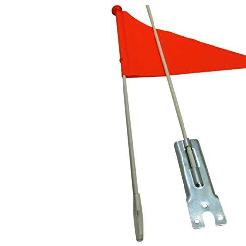 Land-Haus-Shop Kinderfahrradfahne für mehr Sicherheit, Kinder Sicherheits Fahrrad Fahne, orange (LHS)