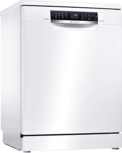 Lave vaisselle Bosch SMS68MW05E - Lave vaisselle 60 cm - Classe A+++ / 40 decibels - 14 couverts - Blanc bandeau : Noir - Tiroir a couvert - Pose libre