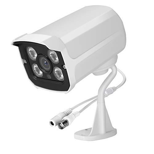 Autuncity Cámara de Seguridad por Infrarrojos, cámara AHD 4 en 1 AHD/CVI/TVI/CVBS, menú OSD Cámara de vigilancia para el hogar Cámara de Seguridad AHD, para día y Noche en Exteriores /