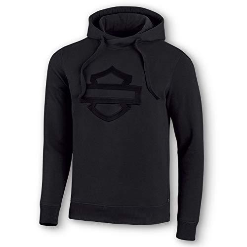 Black Harley-Davidson Mens Lightning Crest Pullover Hooded Sweatshirt