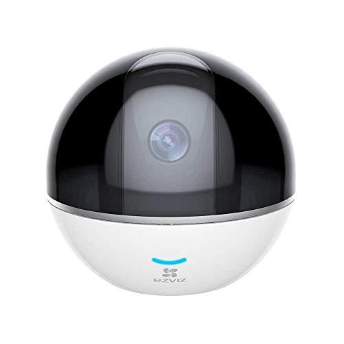 1080p Full HD WLAN Schwenk-/Neige-Kamera mit Nachtsicht, Überwachungskamera mit Mikrofon und Lautsprecher, Smart Tracking, Smart Privacy Mask, Cloud-Service verfügba, Weiß, EZVIZ C6T