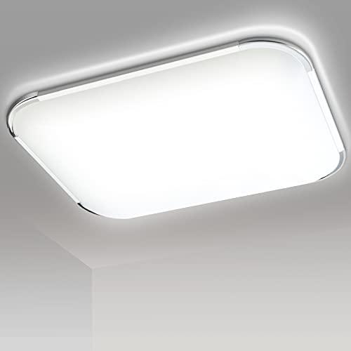 Hengda Plafon led de techo, 48W lamparas de techo habitacion, Moderna LED Plafón para Sala de Estar Baño Dormitorio Cocina Balcón Pasillo Comedor IP44, Blanco frio