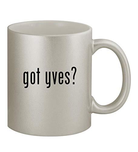 got yves? - 11oz Silver Coffee Mug Cup, Silver
