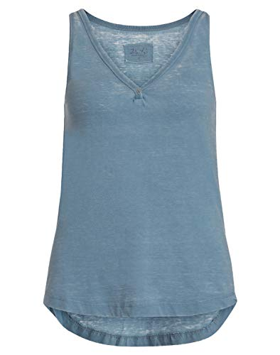 DAILY`S NOTHING`S BETTER BY S. W. B. Geraldine: Damen Top mit V-Ausschnitt, Size:XL, Color:Blauton