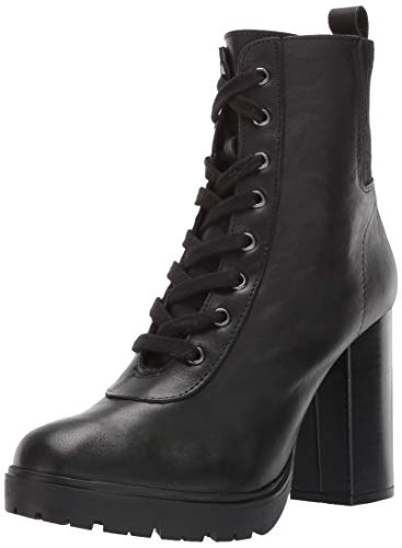 Steve Madden Women's Latch Fashion Boot, Black Leather, 10 M US
