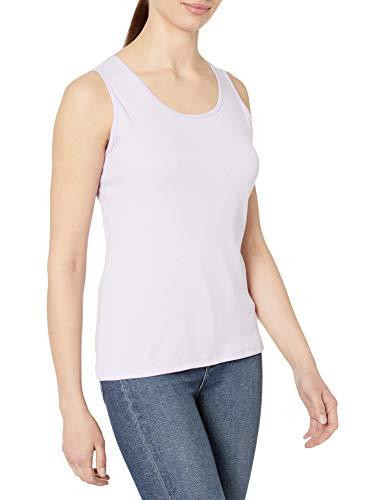 Hanes Women's Cotton Tank, lilac wash, MEDIUM
