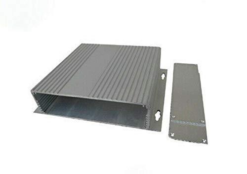 Caja de caja electrónica, caja de instrumentos de proyecto de aluminio para bricolaje para placa PCB, fuente de alimentación (XD-145, 46x190x220mm, paquete de 1)