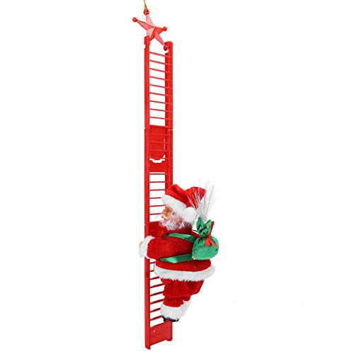 Bicaquu Escalera de Escalada eléctrica fácil de Instalar, muñeca de Papá Noel,...