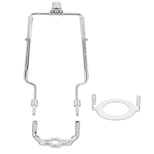 """7"""" 8"""" 9"""" inch Adjustable Lamp Harp fits regular saddle base or UNO collar ring adapter for E26 phenolic socket, works with any lamp style."""
