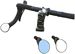 Hafny Drop Bar Bike Mirror, HD, Shatter-Proof, HD Convex Blue Glass Mirror, Bar End Bike Mirror, Bicycle Mirror, Cycling Mirror, HF-M956S-FR06(Automotive Grade Glass Lens)