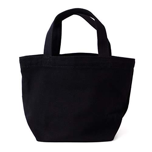 [アニエスベー]agnesb.巾着ミニトートバッグ正規品ロゴミニトートコットンキャンバスWI03H18(ブラック)